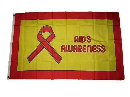 3X5 Advertising Aids Awareness Flag 3'X5' Banner Brass Gromm