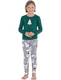 Color Me Christmas Cookies Cotton Jersey Big Girl's Pajamas, Red