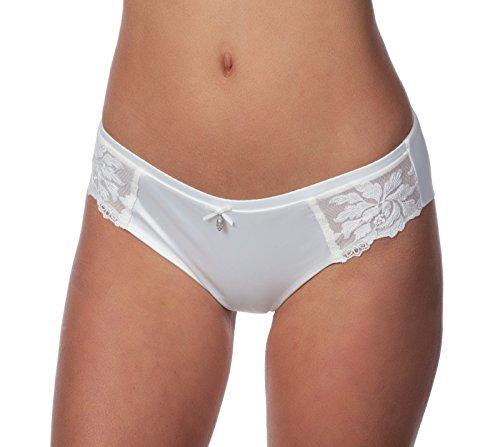Panache Masquerade Serenity 7532 Women's Brief Bikini Bridal Panties (Medium) ()