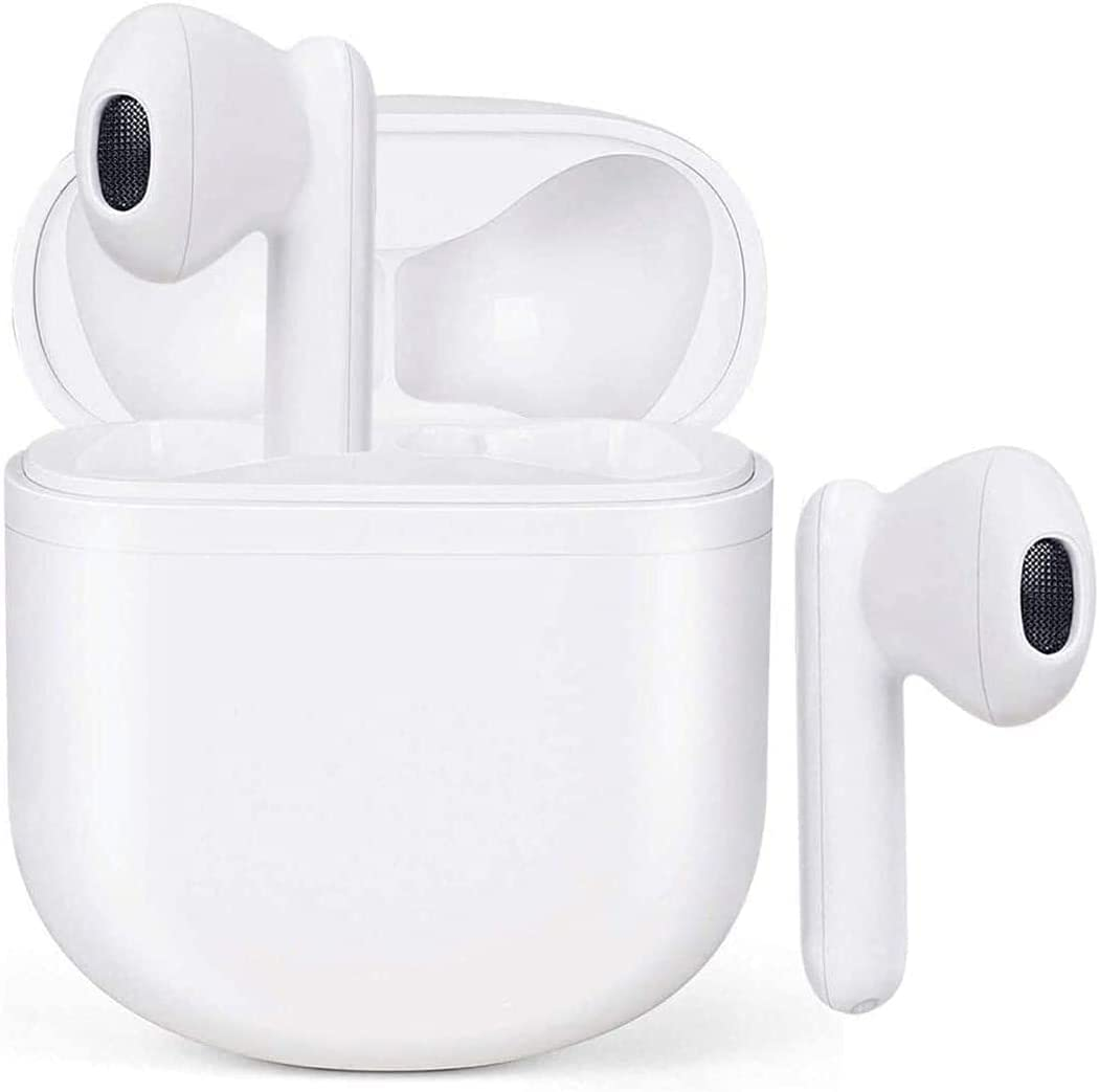 Wireless Earbuds Bluetooth 5.0 Headphones with Charging Case Waterproof Earphones 3D Stereo Earpods Air Buds in-Ear Ear Buds Built-in Mic Touch Control Headsets for Android/iPhone/Samsung