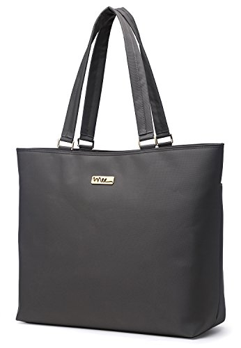 Price comparison product image NNEE 15 15.6 Inch Water Resistance Nylon Laptop Tote Bag Computer Travel Carrying Bag - Gray