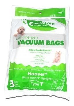 Hoover Upright Vacuum Type Y Anti-Allergen Filter Hepa Bags 3 Pk Part # A856