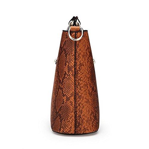 Odomolor a Style ROIBL181212 Marrone Satchel Donna tracolla Oro Moda tracolla Borse Borse Casuale a xHH40r