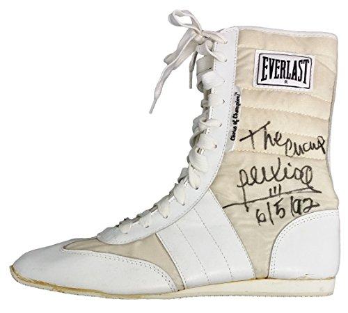Alexis Arguello Autographed White Everlast Boxing Shoe The Champ 6/5/92 PSA AB11970