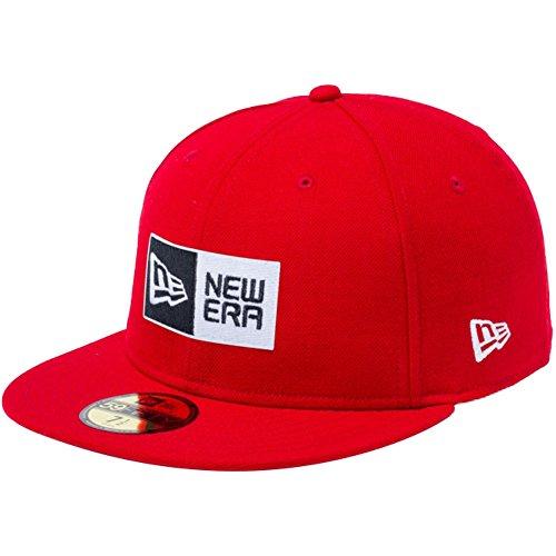 ニューエラ NEW ERA 帽子 5950 BASIC FABRICS BOX LOGO キャップ スカーレット 7 5/8