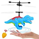 Funburg Flying Ball Dinosaur Toys,RC Drone LED Colorful Light Up Helicopter with Remote,Indoor Outdoor for 6 Year Old Kid,Infrared Induction Flying Toys Dinosaur Birthday Gifts for Boys Girls Kids