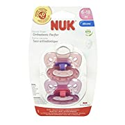NUK Elephants & Butterflies Puller Pacifier in Assorted Colors and Styles, 6-18 Months