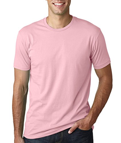 - Next Level NL3600 100% Cotton Premium Fitted Short Sleeve Crew 1 Gold + 1 Light Pink X-Small