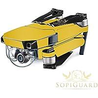 SopiGuard Matte Gold Metallic Precision Edge-to-Edge Coverage Vinyl Skin Controller Battery Wrap for DJI Mavic Pro
