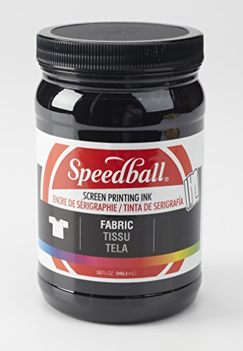 (Speedball Art Products Speedball Fabric Screen Printing Ink, Black (4600), 32 Fl.)