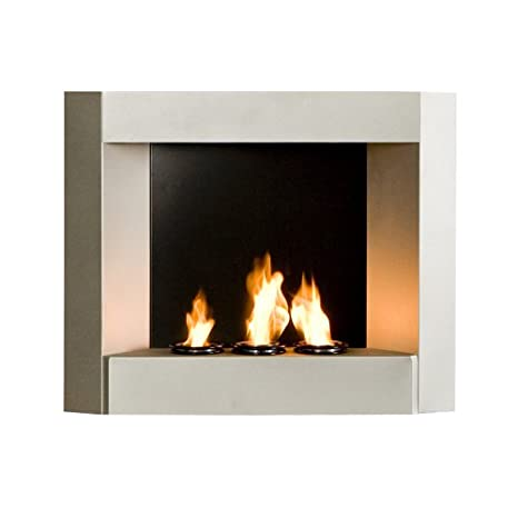 Amazoncom Sei Contemporary Wall Mount Gel Fuel Fireplace Silver