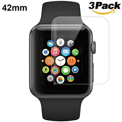 iWatch Series 2 Screen Protector HD 42mm, Rosa Schleife Scratch-resistant Apple Watch Temper Screen Protector Guard Cover 3D Hydrogel Film for Apple Watch Series 3 2 1 Sport Edition - [ 3 Pack ]