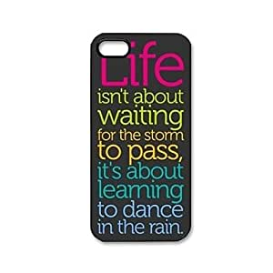 TY Life Quotes Pattern Plastic Hard Case for iPhone 5/5S