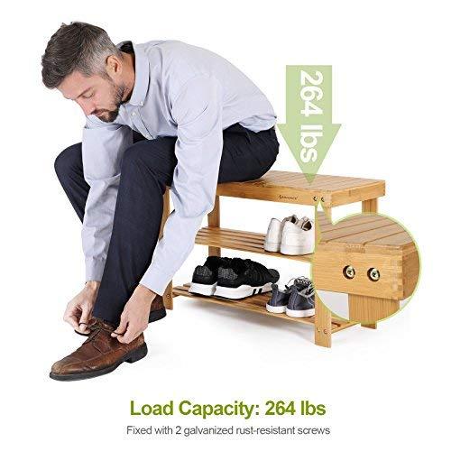 81f3e7c356f5 SONGMICS Sturdy Shoe Rack Bench