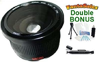 NEW 0.42x HD Super Wide Angle Panoramic Macro Fisheye Lens For The Canon Powershot SX30 IS, SX40 HS, SX20, SX10 Digital Cameras. BONUS BUNDLE: Mini Tripod, Lens Pen Cleaner, Cleaning Kit by Ultra Pro