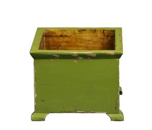 Antique Revival French Style Planter, Green Finish