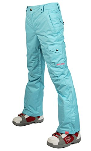 APTRO Women's High Windproof Waterproof Bright Color Ski Snowboarding Pants 024 Sky Blue Color Size (Blue Snowboarding Ski)