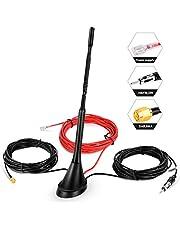 DAB-antenne autoantenne SMA-adapter, boosterversterker met 5 m verlengkabel voor FM AM/DAB + Radio Pioneer, Blaupunkt, Clarion, JVC, Sony
