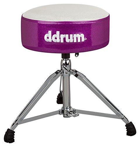 ddrum MFAT WP Mercury Fat Throne, White Top Purple - Ddrum Thrones Drum