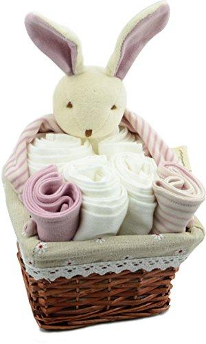 Dordor & Gorgor Organic Cotton Baby gift baskets (Bunny)