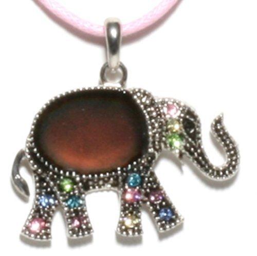 Bracelets Hemp Wholesale (Elephant with Rhinestones Mood Necklace)