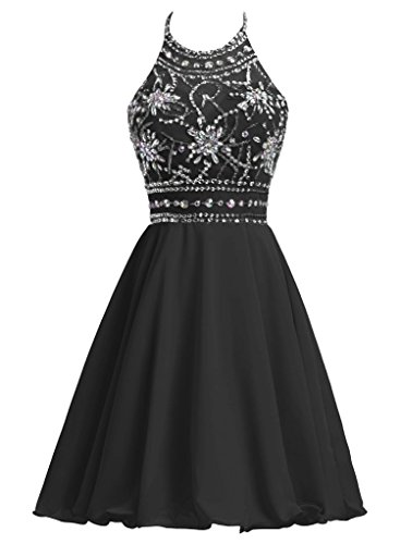 Charm Bridal Halter Bead Girl Homecoming Cocktail Summer Women Bridesmaid Dress -2- by Charm Bridal