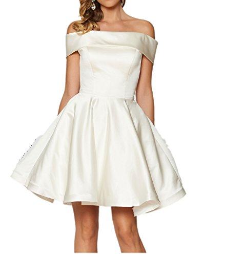 von Promkleider Damen Gruen Charmant Mini Satin Tanzenkleider Oberhalb Knie Abendkleider Weiß Cocktailkleider w8WXx5dZ5q
