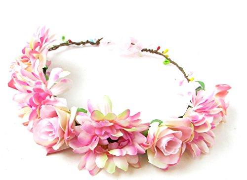 Rose clair Gerbera Daisy Rose Fleur Bandeau cheveux Couronne Couronne Guirlande Boho 727* * * * * * * * exclusivement vendu par–Beauté * * * * * * * *