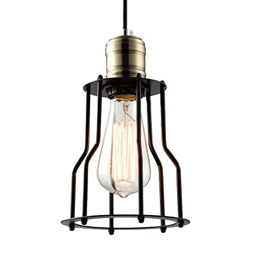 Cheap SUSUO Lighting Open Design Mini Cage Pendant Lighting Vintage Style Industrial Hanging Lighting Fixture (A)