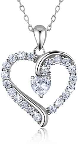 """5c045e8e45ccc6 925 Sterling Silver heart necklace - Billie Bijoux """"You Are the Only One""""  Love"""