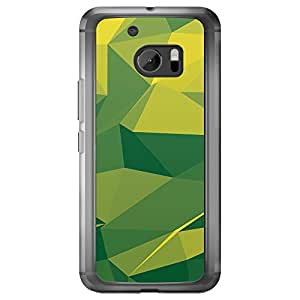 Loud Universe HTC M10 Geometrical Printing Files A Geo 6 Printed Transparent Edge Case - Green
