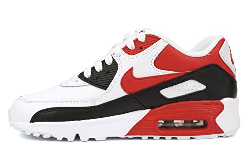 Nike Air Max 90 Ltr Gs Löparskor Vit / Universitet Röd / Svart