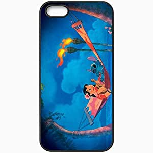 Personalized For SamSung Galaxy S4 Phone Case Cover Skin Lilo and stitch movies Black
