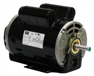 Weg Electric .5018OS1BSPRBO48Z-S, 0.5HP, 1800 RPM, 1PH, 110-120V,208V,230V, 48Z Frame, Special Flange, Footless, Open, General Purpose Motor
