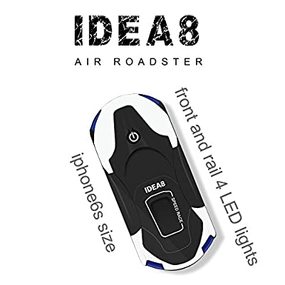 le-idea IDEA8 Stylish Funny FPV RC Drone with 720P HD WI-FI Camera Live Video, Foldable Selfie Pocket Drone for Kid & Beginner, Two Cameras,Two Alititude Holds,Follow Me,Gravity Sensor,2 Battery ?- from le-idea