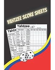 yahtzee score sheets: Book with 130 LARGE score pads - Score Cards Pads with 6x9 Inches - yatzee score cards - yahtzee score pads large