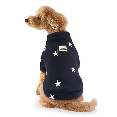 Idepet Pet Dog Coat Sweater Soft Cotton Warm Small Dog Shirt Clothes Pentagram Puppy Sweatshirt
