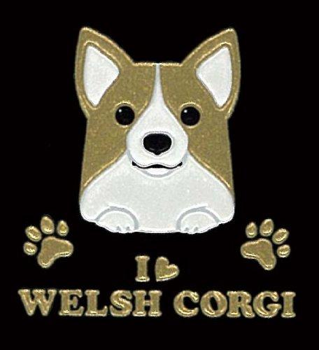 I LOVE DOG Japanese Art Makie Sticker (Welish Corgi)