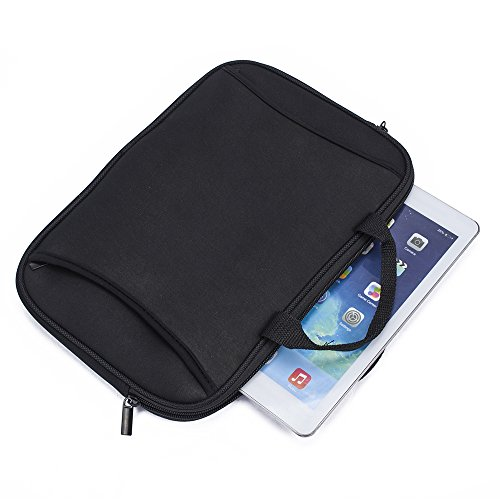 Universal Black Neoprene Zippered Carrying Sleeve Case Bag for 7'' 7.85'' 7.9'' 8'' Tablet Notebook Laptop by SumacLife