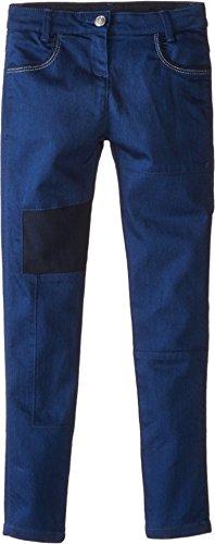 Price comparison product image Little Marc Jacobs Girl's Slim Fit Patched Denim Pants (Little Kids / Big Kids) Denim Blue Jeans
