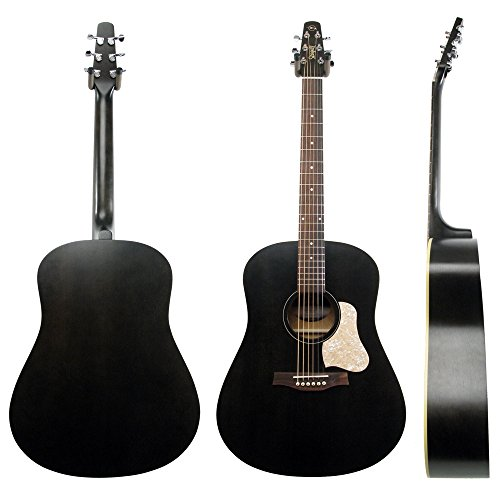 Seagull S6 Original Acoustic Guitar Limited Edition Flat Black with Bag