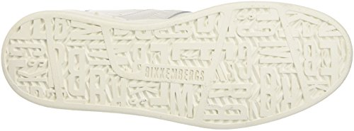 Bikkembergs Bounce 708 Mid Shoe W Leather/Lycra, Zapatillas Altas para Mujer Bianco (White/Silver)