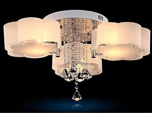 Easy Fit FLRLY simple y moderna lámpara de techo de cristal ...