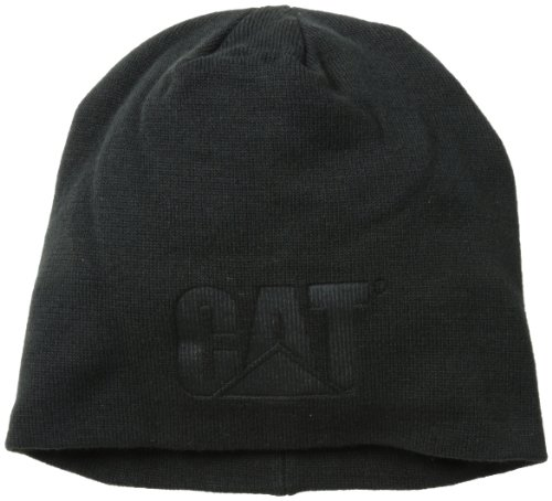 Caterpillar Men's Trademark Knit Cap, Black, One Size