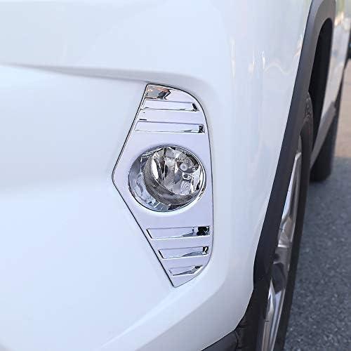 Kadore クローム フロントフォグライト ランプカバー トリムベゼル 2019 トヨタ RAV4 ハイブリッド リミテッド XLE プレミアム XSE LE 2個