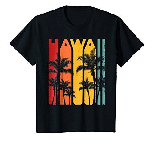 Kids Aloha Hawaii Hawaiian Island T shirt Vintage 1980s Throwback 12 Black - 1970s Hawaiian Shirt