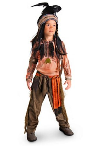Disney Exclusive The Lone Ranger Deluxe TONTO Costume and Headdress Set (Child Size 4) -