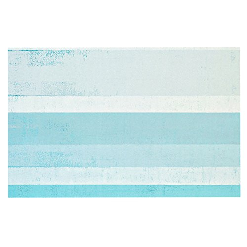 Kess InHouse  CarolLynn Tice ''Waves'' Blue Aqua Pet Bowl Placemat for Dog and Cat Feeding Mat, 18-Inch by 13-Inch by Kess InHouse