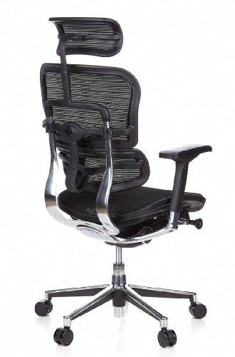 Ergohuman Bürostuhl mit Netz-Stoff, schwarz - 6