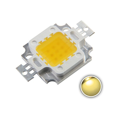 Chanzon High Power Led Chip 10W Warm White (3000K-3500K / Input 900mA / DC 9V-11V / 10 Watt) Super Bright Intensity SMD COB Light Emitter Components Diode 10 W Bulb Lamp Beads DIY Lighting